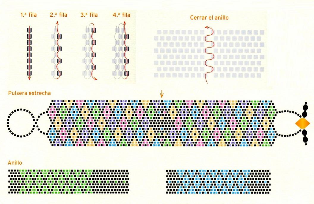 Сделать схему плетения из бисера