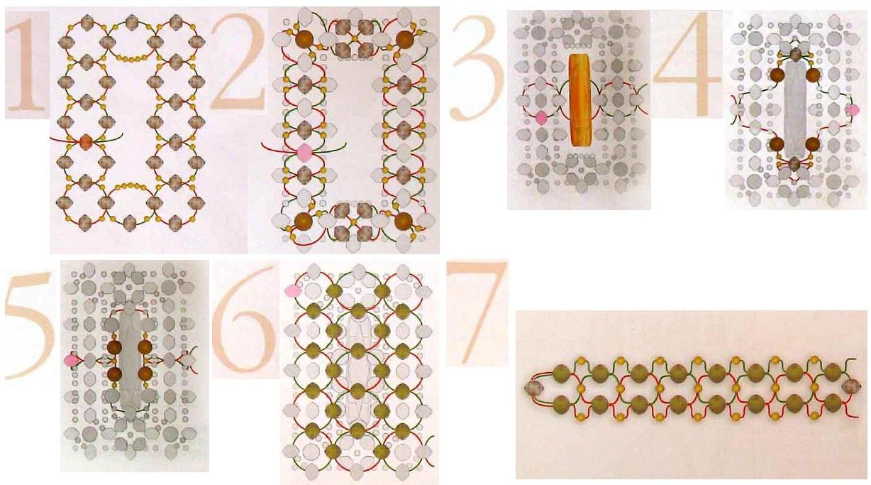Схема кольца 1. Схема плетения кольца из бисера рис. 1.