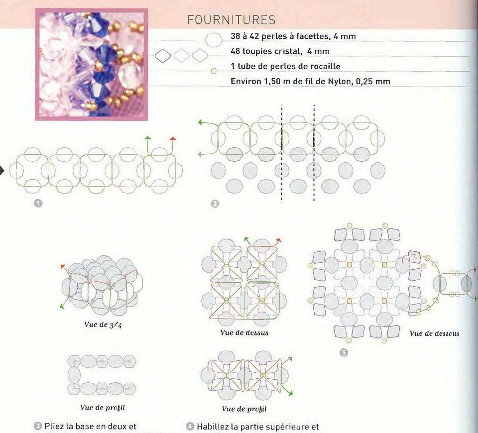 Схема плетения колец из бисера рис. 7. Кольца схема-7.