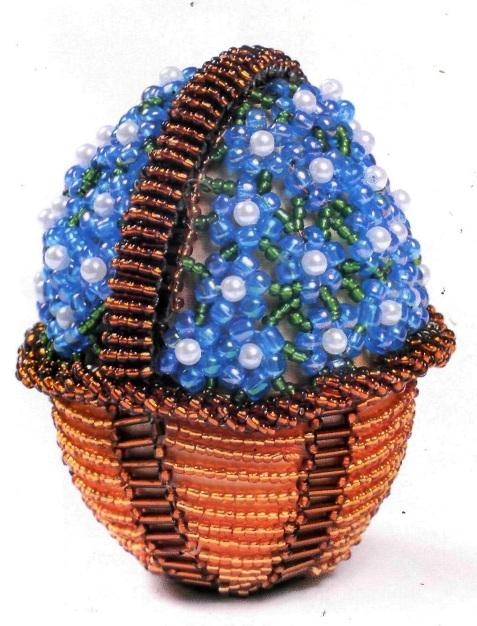 Яйца «Корзина с незабудками»