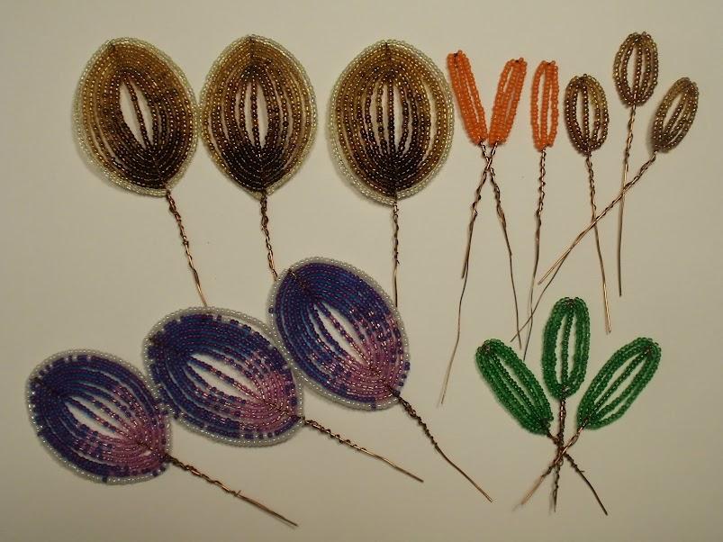 Цветы сделанные из бисера