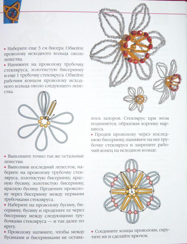 Схемы цветов из бисера нарциссы